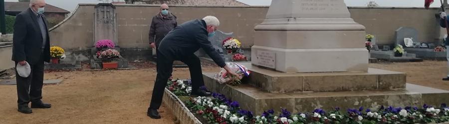 Commémoration du 11-novembre à Cruzilles-lès-Mépillat en présence de Dominique Boyer et Gilbert Marmier