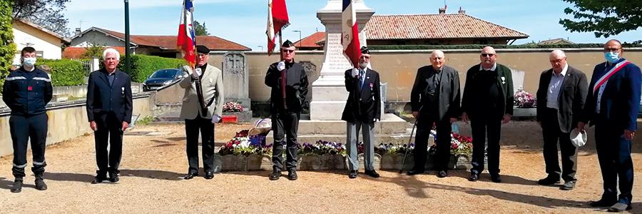 Cérémonie du 8 mai à Cruzilles-les-Mépillat